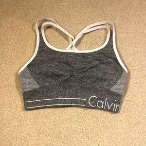 Calvin Klein Gray Sports Bra
